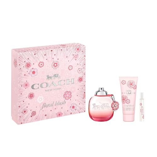 COACH FLORAL BLUSH 3 PCS SET >  3 OZ SP (HARD BOX)