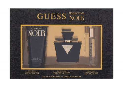GUESS SEDUCTIVE NOIR 3 PCS SET FOR WOMEN >  2.5 EDT SP (WINDOW BOX)